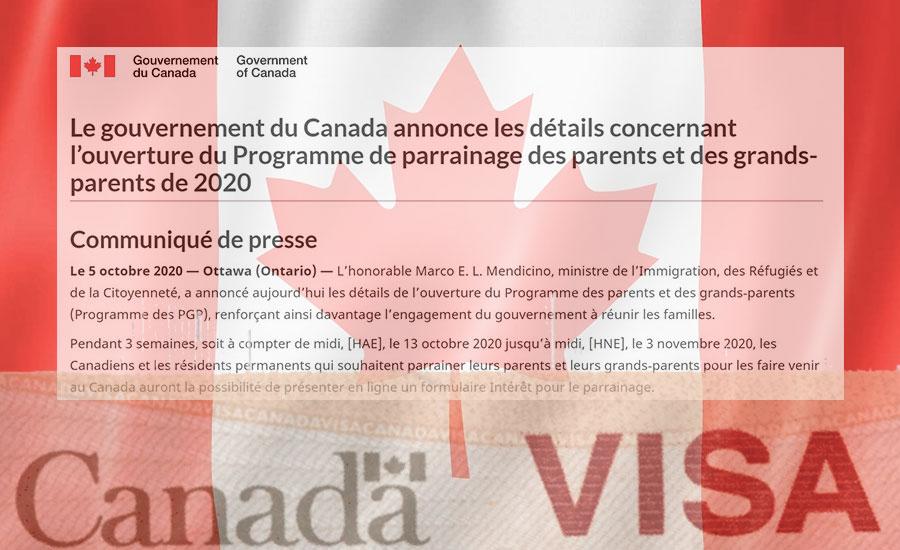 Canada Programme de parrainage 1