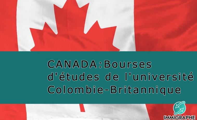 Bourse etudes CANADA