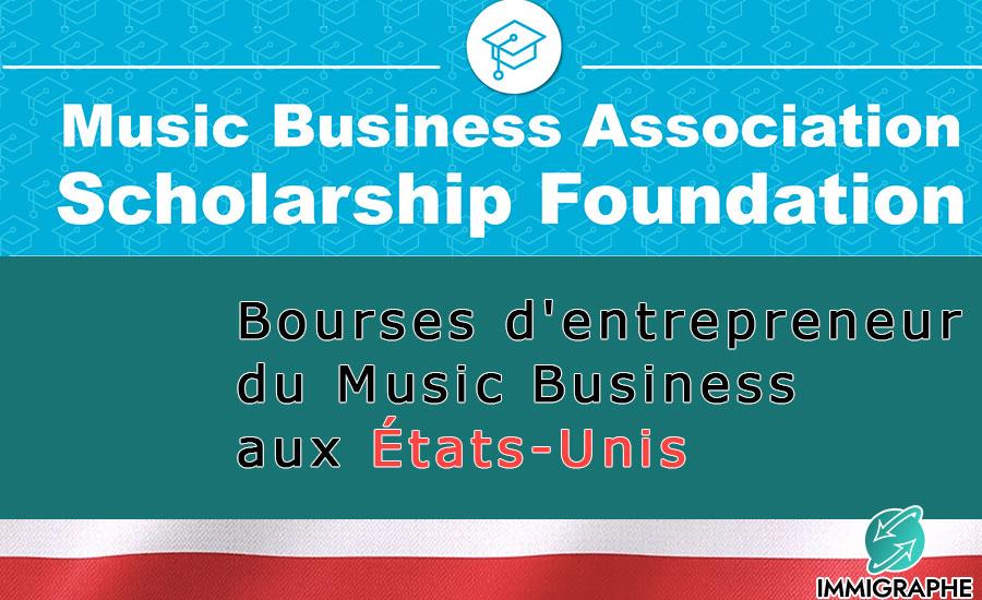 Bourses entrepreneur du Music Business aux USA